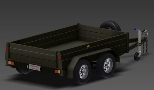 TANDEM BOX TRAILER PLANS 9x5 PLANS ON CD-ROM 8x5 /& 10x6ft Trailer Plans