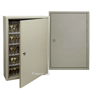 New Key Black Security 30 Hook Storage Cabinet Safe Locking Large Wall Locker