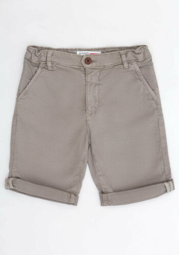 Minoti Taupe Chino Style SHorts Sizes From Age 3-8 Yrs