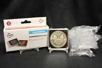 6 Ase American Silver Eagle Quadrum Intercept 2x2 Coin Capsule + Display Stands