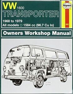 Haynes 082 Manual for VW 1600 Transporter 1968-1979