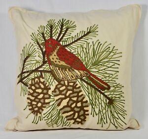 Pottery Barn 18 Quot Euro Pillow Bird Crewel Embroidery Throw