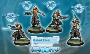 Infinity BNIB Tohaa - Makaul Troops (box of 4) 280905