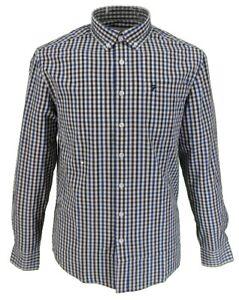 Farah-Long-Sleeved-Blue-Burgundy-White-Gingham-Button-Down-Shirts