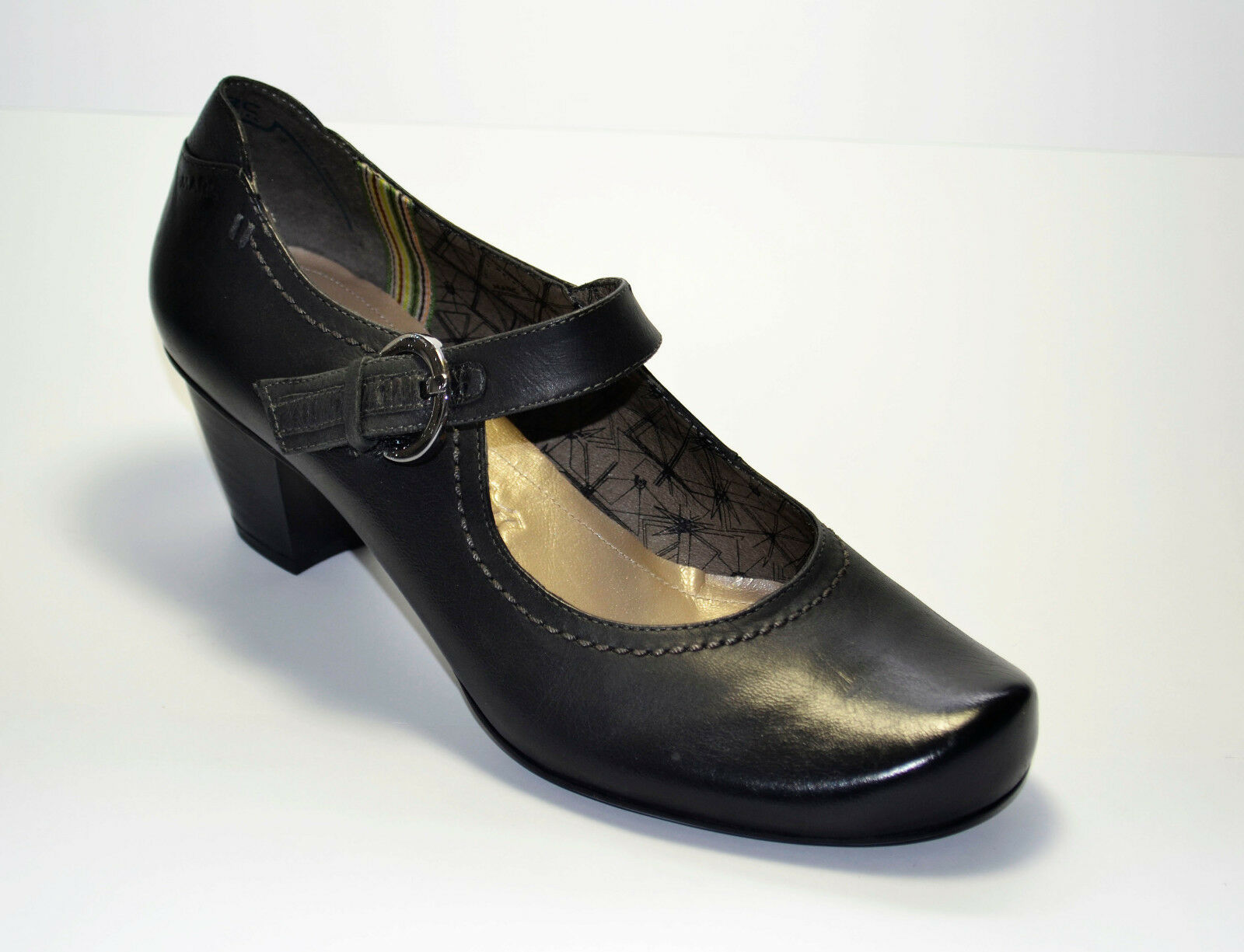 Marc chaussures femmes Fermoirs Chaussure noir Taille 38 (PE 1921 s)