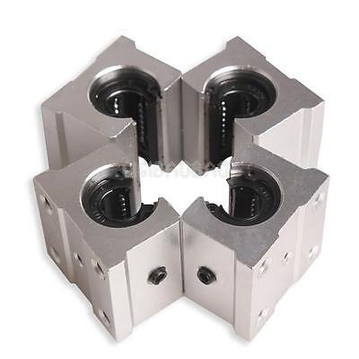 4 SBR12UU 12mm Aluminum Linear Router Motion Bearing Solide Block RAIL SLIDE CNC