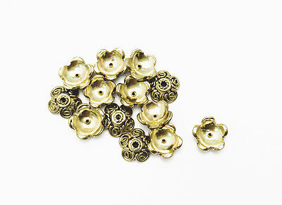 Solid Brass 3 Loop With Dots 9mm Beadcap Findings Q20 29880