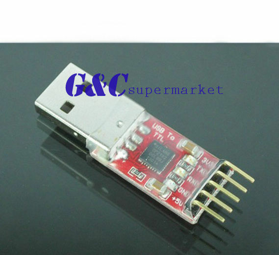 2PCS NEW CP2102 USB 2.0 to UART TTL 5PIN Module Serial Converter+5pins Cable M20