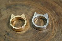 Cat Or Batman Rings, Gold Or Silver Color, Size 7 Or 8