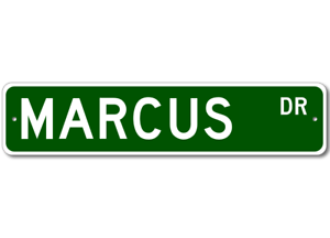 MARCUS Street Sign Personalized Last Name Sign