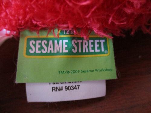 SESAME STREET~Cute ELMO FACE TRAVEL PILLOW~Zippered Back Pocket~Handle