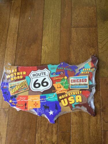 Большой маршрут 66 Соединенных Штатов карта металлический знак 25x15 мать дорога