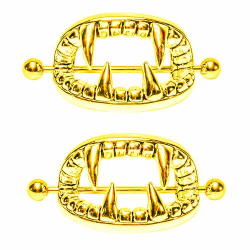 1 Pair 361L Stainless Steel Nipple Ring Shield Bar Barbells Body Piercing 14g