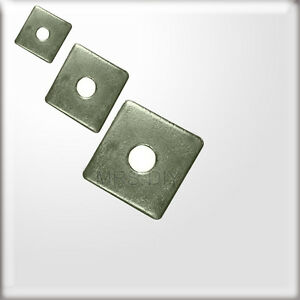 Image is loading A4-Marine-Grade-SQUARE-PLATE-WASHERS-Stainless-Steel- & A4 Marine Grade SQUARE PLATE WASHERS Stainless Steel M10 \u0026 M12 ...