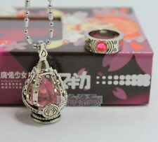 Cosplay Puella Magi Madoka Magica Soul Gem Necklace + Ring Kaname Madoka AE35