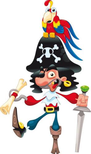 Sticker enfant Pirate Perroquet réf 819