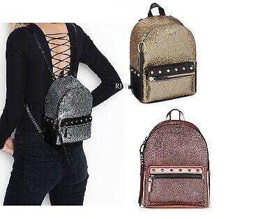 Details about  /NWT Victoria/'s Secret Sparkle Small City Backpack Gold Sparkle