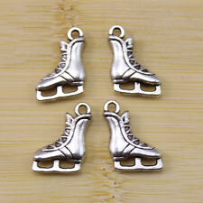 Retro Style Silver Zinc Alloy Ginkgo Leaf Jewelry Findings Charms Pendants 12pcs