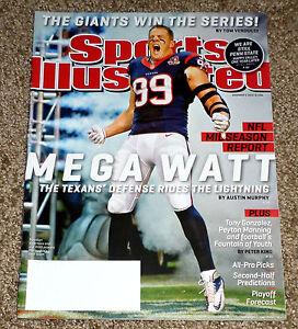2012 JJ J.J November 5 Watt Houston Texans REGIONAL Sports Illustrated