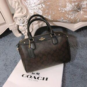 c0028f4b5aef NEW STOCK!!! Coach Mini Bennett Satchel Signature  Floral Black Dark ...