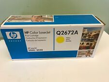 NEW SEALED HP Q2672A Yellow Toner Cartridge LaserJet 3500 3550 309A