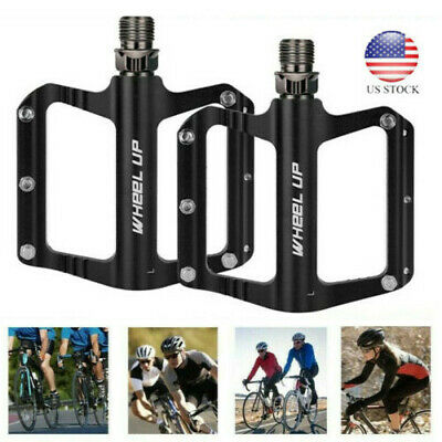 "9//16/"" Bicycle Pedals Road Mountain Bike Pedals Flat Wide Platform Sealed Bearing"