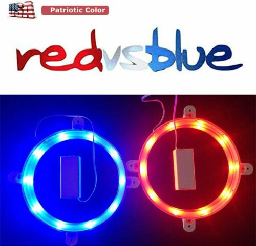 Battery Operated Color Changing LED Cornhole Hole Light Set With Remote Control