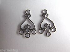 2 X BALI 925 Sterling Silver Chandelier Earring Findings Connectors 25mm