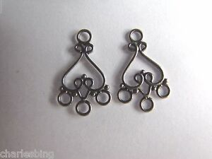 Image Is Loading 2 X Bali 925 Sterling Silver Chandelier Earring
