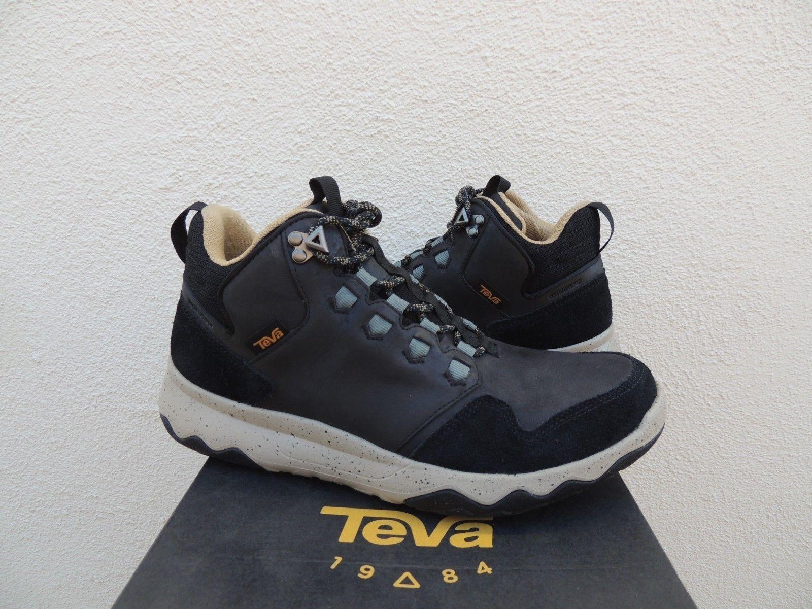 TEVA schwarz ARROWOOD LUX MID WP LEATHER Turnschuhe Stiefel, MEN US 10  EUR 43 NIB