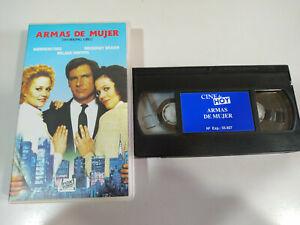 Armas-de-Mujer-Harrison-Ford-Sigourney-Weaver-VHS-Cinta-Tape-Espanol