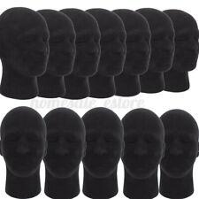 5x 11 Male Styrofoam Mannequin Manikin Head Model Wigs Glasses Cap Display
