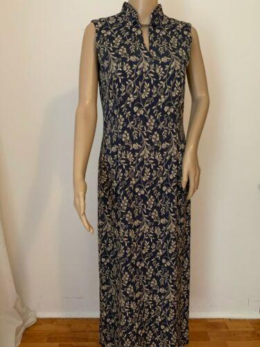 LAURA ASHLEY mandarin collar floral dress