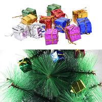 12XColorful XMAS Small Gift Boxes Christmas Tree Hanging Decoration OrnamentsHUK