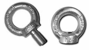 M6-M8-M10-Lifting-Eye-Nuts-amp-Bolts-Galvanized-C15-Zinc-Plated