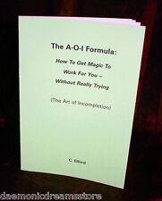 THE AOI Formula. Magick Finbarr Occult Grimoire. Rare Witchcraft Book