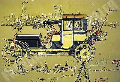 Selten Chromolitho Katalog 1907 Chicago Berliet & Indianer René Vincent Draeger