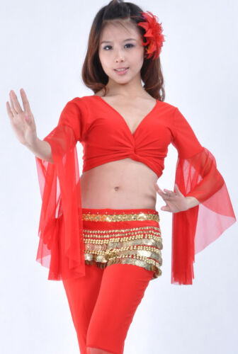 New Belly Dance Costume choli Flare Top Bra Blouse 9 Colours