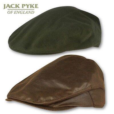 JACK PYKE Homme Imperméable Cire Flat Cap Coton Chasse Tir