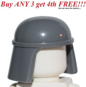 ☀️NEW Lego Minifig Hat Helmet Dark Bluish Gray SW Imperial Pilot Head Piece