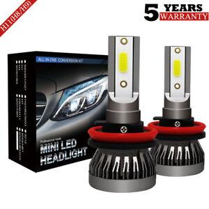 2x-Bombillas-LED-H11-H8-H9-72W-9000LM-6000K-COB-Luz-Coche-Xenon-Blanco-Headlight