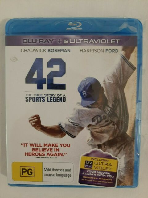 DVD: 42 The True Story Of A Sports Legend BLU RAY + ULTRAVIOLET NEW & SEALED