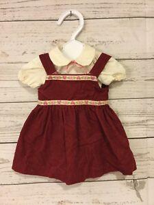 Handmade-Doll-Dress-amp-Shirt-Fits-18-034-American-Girl-Madame-Alexander-Burgundy