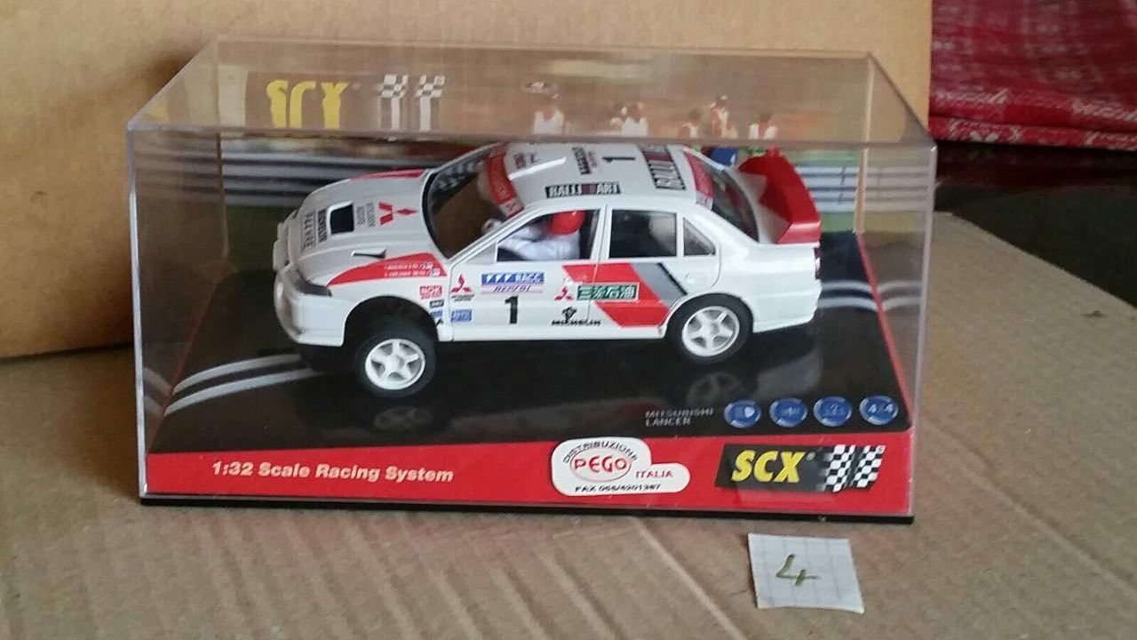 4° SLOT SCX MITSUBISHI LANCER COSTA BRAVA - blanco - RIF. 6000 - MC10 17