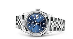 Rolex Datejust 116200 Blue Dial Wrist Watch for Men