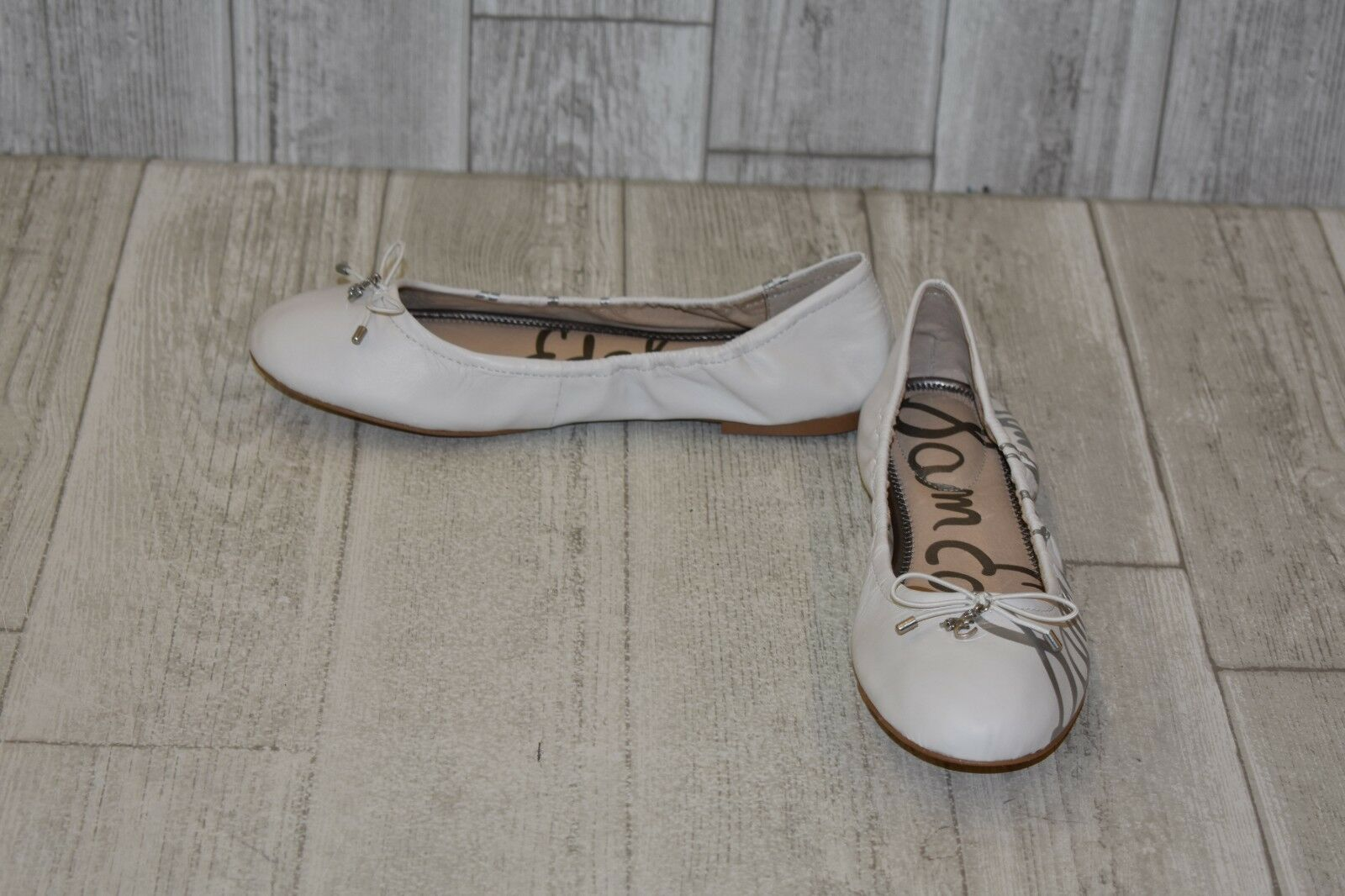 +Sam Edelman Felicity Flats - Women's Choose Your Size, White Silver