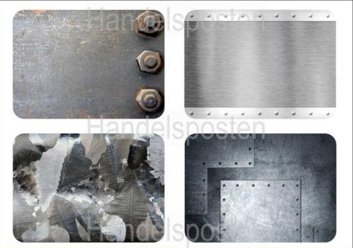 Versandkostenfrei 42 x 30cm 4er Set Themen Motiv Platzdeckchen Metal