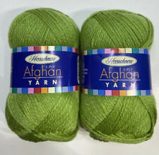 Herrschners Afghan Yarn 2-ply Dark Gray 220 yds each lot of 2