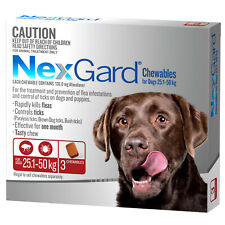 NexGard For Dogs Red Large 25-50kg 3 Pack
