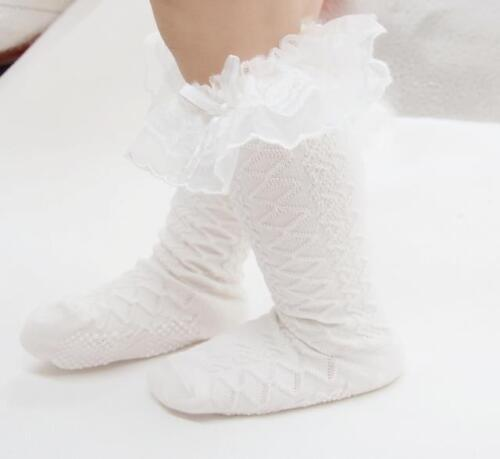 Vintage Girls Toddlers Baby Frilly Lace Wedding Party School Socks *1-9 years